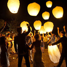 10x Chinese KongMing Wishing Lamp Sky Flying Lanterns Fire Light Wedding Party