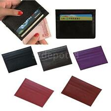 Luxury High Quality Mens Brown Leather Bifold Wallet Credit Card Holder Gift