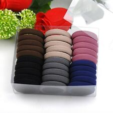 30Pcs High Quality Thick Endless Snag Free Hair Band Elastics Bobbles Rope Girls
