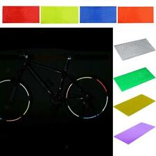 PACK 8 SHEET REFLECTIVE RIM WHEEL STICKER TAPE DECAL FOR MOTORCYCLE CAR MTB BIKE