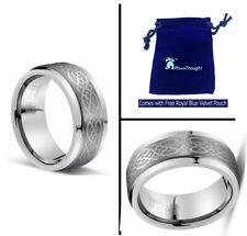 8MM Silver Infinity Celtic Knot Tungsten Carbide Wedding Band Ring Men or Ladies