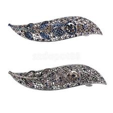 Spring Leaf Rhinestone Hollow Hair Clip Barrette claw Hairpin Accessory Gift