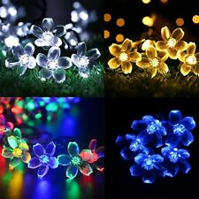 50 LED Outdoor Solar String Fairy Light Garden Yard Waterproof Xmas Party Lamp