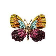 Fashion Crystal Rhinestone Butterfly Brooch Pin Jewelry Gift for Girl Women
