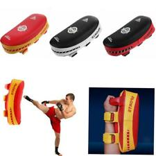 Single Thai Kick Boxing Strike Arm Pad MMA Focus Muay Punch Shield Mitt Kick Pad