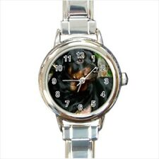 Rottweiler Puppy Dog Italian Charm Watch (Battery Included)