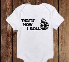 That's How I Roll Star Wars BB-8 Droid Baby Clothes Girl/Boy Unisex onesie