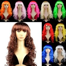Women Lady Long Hair Curly Wavy Wig Synthetic Anime Cosplay Party Full Wigs J75