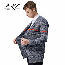 Casual Men Slim Cardigan Cotton V Neck Long Sleeve Slim Knitwear Sweaters SM
