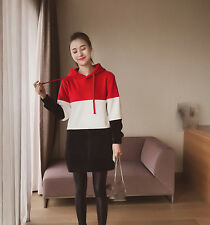Qiu dong season new color matching velvet dress loose long-sleeved jacket