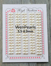 AAAA/AAA 5.5-6mm 18 pairs white/pink/lavender button pair pearl,loose pearl