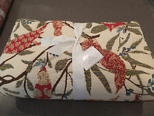 RARE New 3pc Pottery Barn Pollie Patchwork King Christmas Holiday Quilt Set HTF