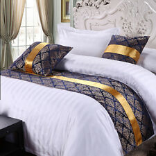 yazi Bed Runner Scarf Home Hotel Bedroom Bedding Cotton Slipcover Pillowcase