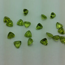 3mm - 8mm Natural Peridot Faceted Cut Trillion Top Quality Green Color Gemstone