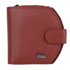 Women's Bags Genuine Leather Zipper Card Coin Holder Mini Wallet Small Purse