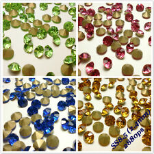 SS8.5 (2.4mm) Point back Rhinestones Crystal Glass Strass Chaton Nail Art 2880ps