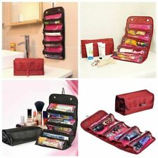 Travel Roll-up Cosmetics Makeup Beauty Case Organizer Pouch Hanging Toiletry Bag