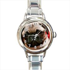 Cute Pug Puppy Dogs Italian Charm Watch (Battery Included)