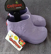 NWT Holeys Critters Kids Purple Coastal Boots