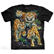 Bengal Tiger Collage T-Shirt by The Mountain. Big Cat Tiger Lion Leopard NEW