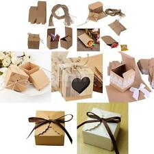 50pcs Square Sweets Candy Chocolate Gift Boxes Wedding Party Bridal Favor 7Style