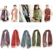 Ladies Winter Scarf Pashmina Cashmere Silk Scarves Wool Shawl Wrap Long Scarf