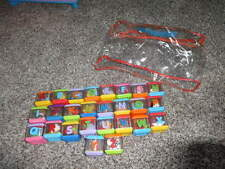 COMPLETE SET FISHER PRICE ALPHABET ABC PEEK A BOO BLOCKS W BAG LOT