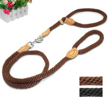 New Nylon Rope Braided Dog Slip Leash Training Traction Dog P-Leash Collar