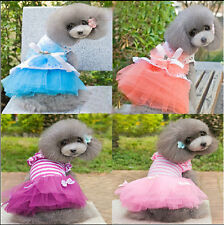New Small Dog Clothes Cute Pet Dog Tutu Dress Lace Skirt Cat Princess Clothes