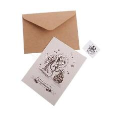 30 Sets Christmas Painted Greeting Card w/Envelopes Wishing Card