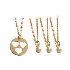 4pcs Hollow Heart Mother Daughter Sisters Pendant Necklace Family Jewelry Gift