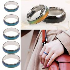 Fashion Jewelry Stainless Steel Temperature Color Changing Mood Ring Kids Adult