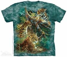 Three Jungle Cats T-Shirt by The Mountain.  Wild Big Cat Tiger Lion Leopard S-5X