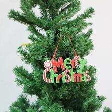 Merry Christams Shiny Xmas Tree Door Decorations Hanging Ornaments with String