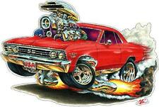 Madd Dog 1967 Chevelle SS 396 Large Cartoon Decal Wall Graphic Man Cave Boy Room