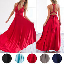 Convertible Multi Wear Way Bridesmaid Formal Wedding Party Dress Ball Gown Prom