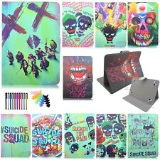 "9.7""10.1"" universal tablet case flip folio Suicide Squad pu leather stand cover"