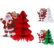 Christmas Honeycomb Paper Decorations Folding Christmas Tree Santa Claus 12""