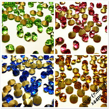 SS37 (7.8mm) Rhinestones Pointback Crystal Glass Strass Chaton Nail Art 144ps