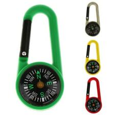 Mini Compass Camping Hiking Carabiner Outdoor Guiding Keychains Survival Tools