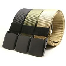 New Mens Automatic Buckle Canvas Fashion Waistband Waist Strap Casual Belts