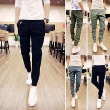 New Men's Korean Style Casual Slim Fit Skinny Sports Harem Trousers slacks Pants