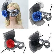 Women Sexy Flower Lace Eye Mask Venetian Masquerade Halloween Party Fancy Dress