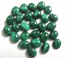 7x5mm - 18x13mm Natural Malachite Cabochon Oval Top Quality Green Color Gemstone