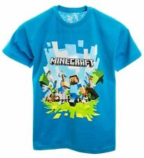 Official MINECRAFT ADVENTURE LOGO Youth Boys or Girls T-Shirt Ages 9-13