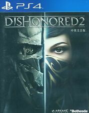 New Sony PS4 Games Dishonored 2 HK version Chinese / English Subtitle