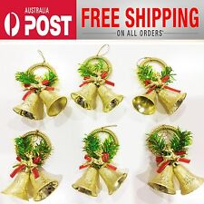 12Pcs Christmas shop Tree Hanging Decoration Deer Bell Ornaments Xmas Home Party