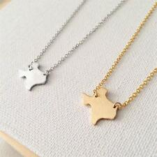 USA Texas State Silver or Gold Plated Pendant Charm Necklace Texas Map Necklace