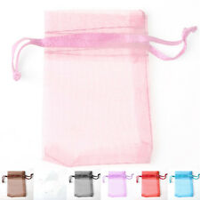 100 PCS Premium Organza Gifts Pouch Wedding Party Favour Bags Jewellery Pouches