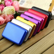 ID Credit Card Waterproof Business Wallet Holder Aluminum Metal Pocket Case SM
